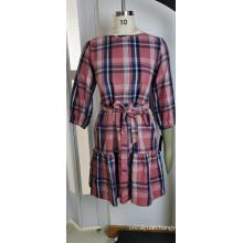 Wholesales Woman Checkered Pattern Dress