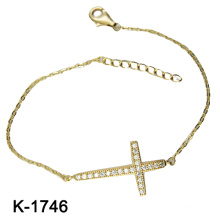 925 pulsera colorida de la plata esterlina CZ (K-1746. JPG)