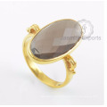 Smoky Quartz Gemstone Ring, 18k Gold Ring Wholesale Supplier Jewelry