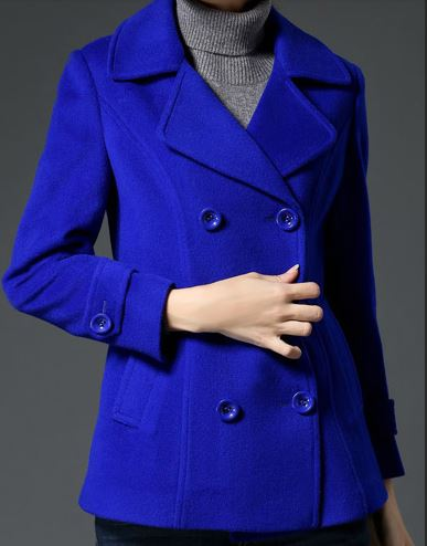 Women's Cashmere Pea Coat -5