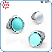 Cosmétique de miroir latéral de forme ronde de diamant