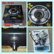 tempered glass top single burner gas stove, gas cooker