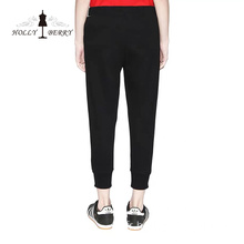 Pantalon Skinny taille élastique Yoga Leggings Solid Black