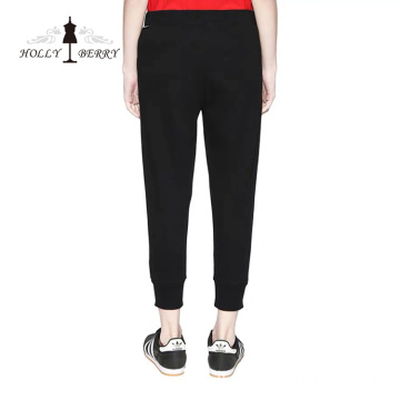 Pantaloni skinny elastici in vita Yoga Leggings Solid Black