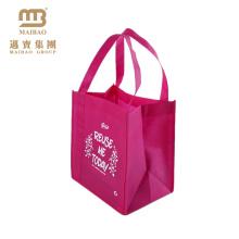O saco reusável resistente barato de alta qualidade barato da tela transporta sacos de compras não tecidos com logotipos feitos sob encomenda impressos