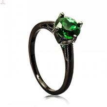 Modische schwarze Kupfer Schmuck Display Gold Ring Design für Mädchen