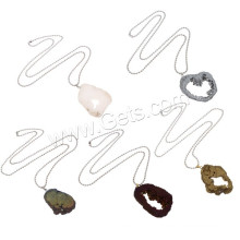 2015 Gets.com ожерелье друзи, Ледяной кварцевый агат