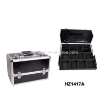 professional aluminum cosmetic case with trays inside manufacturer