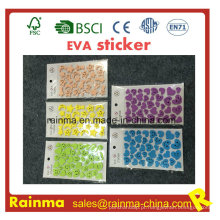 Etiqueta adesiva da parede da espuma de EVA das letras e etiqueta feita sob encomenda de EVA