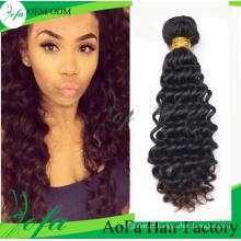 Extensão natural não processada do cabelo humano de Remy do cabelo do Virgin de 100%