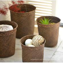 (BC-ST1078) Gute Qualität reine manuelle natürliche Stroh Wäschekorb