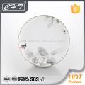A010 Luxus Prägung Blume feine Knochen Keramik Teller