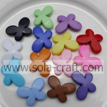 Wholesale Fashion Acrylic Solid Jewelry Butterfly Beads/ Loose Plastic Beads For DIY Necklace/Bracelets/Earrings