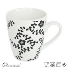 10oz White Porcelain with Full Decal Grass Mug