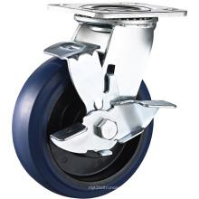 Roulette à caoutchouc élastique en caoutchouc résistant à usage intensif
