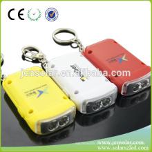LED caliente personalizado llavero solar, nombre de llavero activado por energía solar, llavero LED