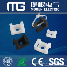 Saddle Type nylon cable Tie Mounts ,socket for cable ties with UL94V-2 ,CE approval