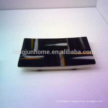 cow horn black towel tray