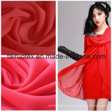 Polyester Silk Chiffon for Lady Summer Dress Fabric