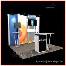 facile à installer et pliable, moderne et meilleur prix pour le stand d'exposition