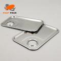 Couvercle de seau carré en métal avec poignée / trou en plastique