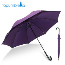 L'Oreal certified factory 23 inches best fiberglass Lightweight Straight purple umbrella