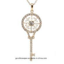 Специальный дизайн и классические горячие женщины моды ключевых формы подвеска Серебряное ожерелье (P5065)