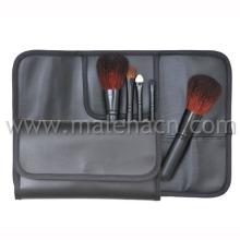 5PCS escovas da composição do curso com saco cosmético preto