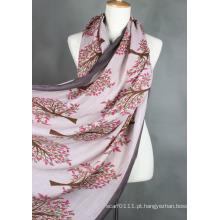 Moda feminina impresso lenço de viscose (yky1023-1)