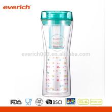 Atacado Tea Infuser Glasses Double Wall Cup