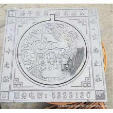 round cover with square frame ductile manhole cover