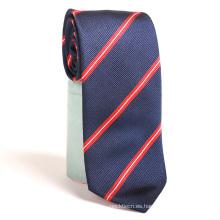 Los hombres de alta calidad atan corbatas tejidas poliéster chino de la raya