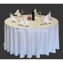 fashionable satin stripe round white vinyl tablecloth