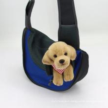 Fashion Sandwich Mesh Fabrics Pet Dog Bag Lightweight Breathable Carrier Shoulder Bag Pet Poo Bag Holder