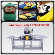Máquina de bordar de cabeça única de área grande para boné / sapatos / bordado plano com qualidade superior da China