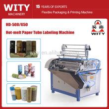 Máquina automática de rotulagem de latas de papel
