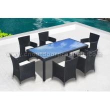 Jardín mimbre Rattan muebles de comedor