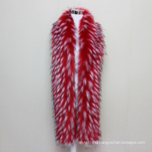 2017 Fashion Jacquard Mink Fur Accessory Winterwoman Fur Scarf