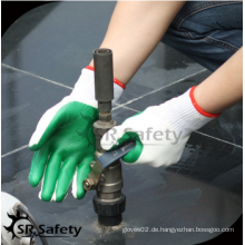 SRSAFETY billig Preis / Konstruktion Latex Handfläche Handschuhe Schutz / Hand Handschuhe