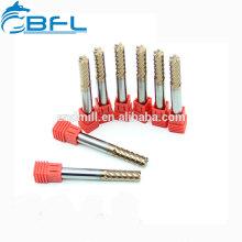 Tamaños de diámetro estándar 6 Flautas Acabado Molino de extremo de carburo de tungsteno especial Molino de aluminio de perforación ultra micro