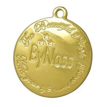 Encantos de la etiqueta colgante de metal dorado con logotipo grabado