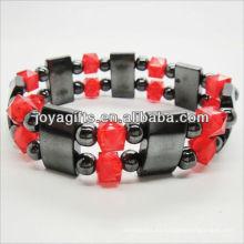 01B5003-1 / nuevos productos para 2013 / hematita pulsera spacer pulsera / hematita brazalete / hematita magnética brazaletes de salud