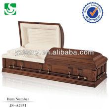 Caixão de madeira cremação estilo americano especializado no atacado