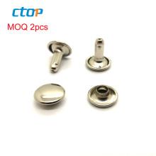 Guangzhou factory garment accessories metal stud jean custom studs decorative rivets metal rivet double cap rivet