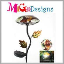 Estaca de jardim em metal leve solar em forma de cogumelo de qualidade superior