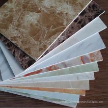 3mm Marmor Farbe UV beschichtet PVC Vinyl Wand