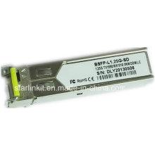 Transetteur à fibre optique Bidi Bsfp-L1.25g-SD entièrement compatible