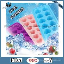12-Cavity Silicone Ice Cream Mold también para pasteles, pudín, piruletas y chocolate Si21