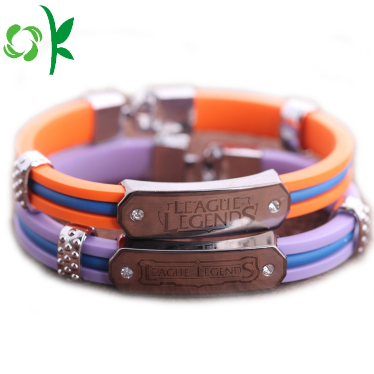 Unique Layer Silicone Wristbands