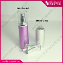 Airless 15ml Embalagem de Cosméticos e Round bomba 30ml 45ml Cuidados com a Pele Colored Alumínio Garrafas Para Atacado